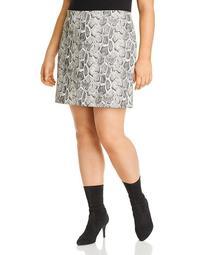 Faux Snakeskin Mini Skirt - 100% Exclusive