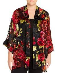 Floral Burnout Kimono Cardigan