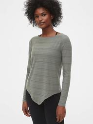 GapFit Twist-Front Long Sleeve T-Shirt