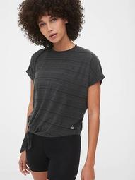GapFit Ribbed Dolman Tie-Front T-Shirt
