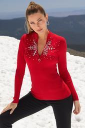 Snowflake Zip Sweater