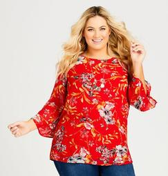 Sheer Floral Tunic with Attached Cami