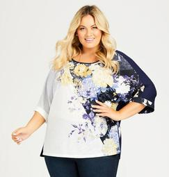 Placed Floral Tee