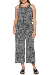 Abstract Tile Jumpsuit
