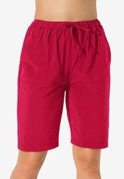 Taslon® Swim Board Shorts with Built-In Brief