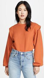 '80s Pleated Shoulder Sweatshirt