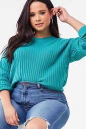 Plus Size Drop-Sleeve Sweater