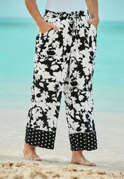 Wide-Leg Pant Swim Cover-Up Pant