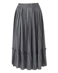 Pleated Ruffle Trim Skirt