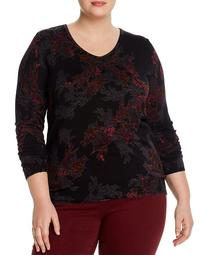 Botanical Button-Back Lightweight Sweater