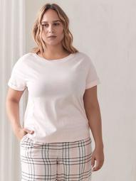 Raglan-Sleeve Pajama T-Shirt - Addition Elle