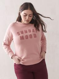 Logo Patch French Terry Sweatshirt - Addition Elle