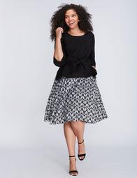 Pleated Full Skirt by Melissa McCarthy Seven7