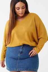 Plus Size Dolman Knit Top