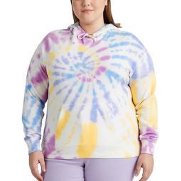 Plus Size Chap Tie Dye Hooded Sweatshirt