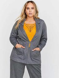 Striped Fine Knit Jacket - Michel Studio