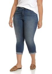 Plus Size Roll Cuff Denim Altered Pants