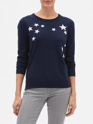 Star Crewneck Pullover Sweater