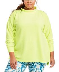 Plus Size Split-Shoulder Mock-Neck Top, Created For Macy's