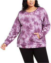 Plus Size Active Tie-Dyed Sweatshirt