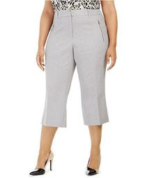 Plus Size Parker Twill Cropped Pants