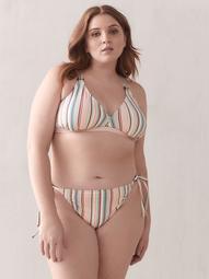 Striped Triangle Bikini Top - Addition Elle