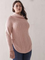 Cable-Knit Mossy Sweater - Addition Elle