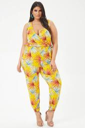 Plus Size Palmetto Print Jumpsuit