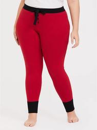 Black & Red Drawstring Sleep Pant