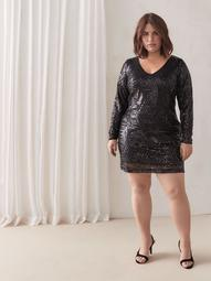 Short Sequin Dress - City Chic