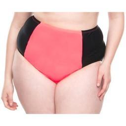 Moxi Blu Women's plus-size retro high-waisted bikini swimsuit bottom