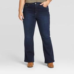 Women's Plus Size High-Rise Flare Jeans - Universal Thread™ Dark Wash