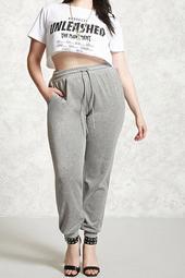 Plus Size Velvet Sweatpants