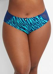 Print & Lace Hipster Brief Panty