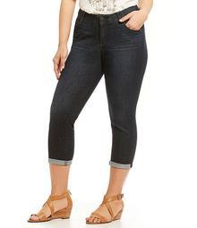 """Plus """"Ab""""solution Crop Jeans"""