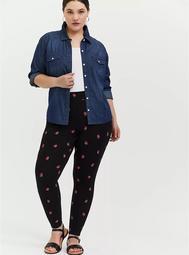 Premium Legging - Strawberry Black