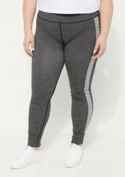 Plus Marled Knit Seamless Leggings