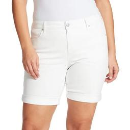 Plus Size Gloria Vanderbilt Rolled-Cuff City Shorts
