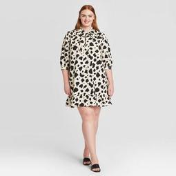 Women's Plus Size 3/4 Sleeve Shift Dress - Who What Wear™