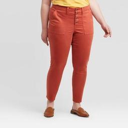 Women's Plus Size Mid-Rise Skinny Jeans - Universal Thread™ Rust