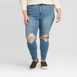 Women's Plus Size High-Rise Skinny Jeans - Universal Thread™