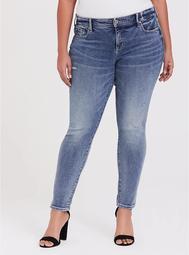 Mid Rise Skinny Jean- Vintage Stretch Light Wash