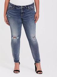 Mid Rise Skinny Jean- Vintage Stretch Dark Wash