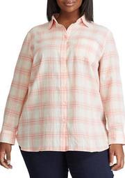 Plus Size Tommi Long Sleeve Button Down Shirt