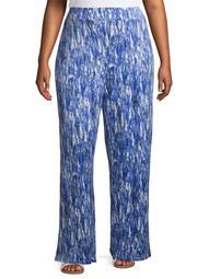 RachelRachel Women's Plus Size Wide Leg Printed Pull on Pant