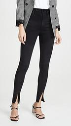 x WWW The Danielle High Rise Skinny Zip Jeans