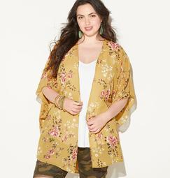 Floral Print 2Fer Kimono
