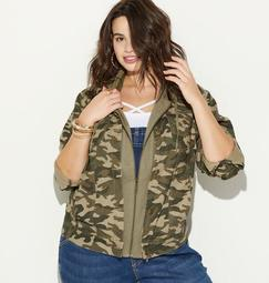 2Fer Camo Hoodie Jacket