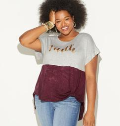 Faith Colorblock Top