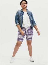 Purple Tie-Dye Bike Short